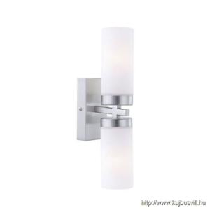 GLOBO 7816 SPACE Fürdőszobai falikar króm, üveg opál IP44, 2xE14 40W 230V