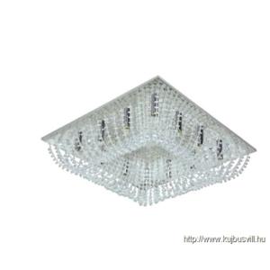 LUXERA 32300 EMIR mennyezet lámpa 12xG9/33W króm/kristály 60x60cm