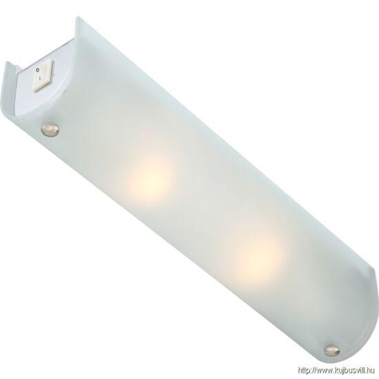 GLOBO 4101 LINE Tükörvilágító, króm, üveg szatén  búra, 2xE14 40W 230V,kapcsolóval