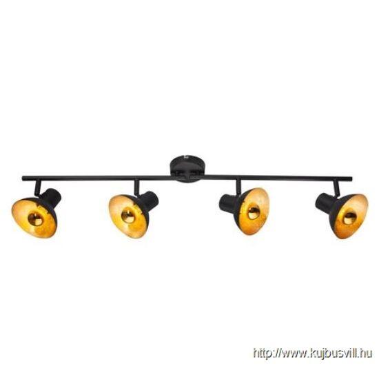 KIFUTÓ GLOBO 54001-4 LOTTE Spot,  metál fekete, aranyozott. 4xE14 LED 4W 230V, 380lm, 2700K