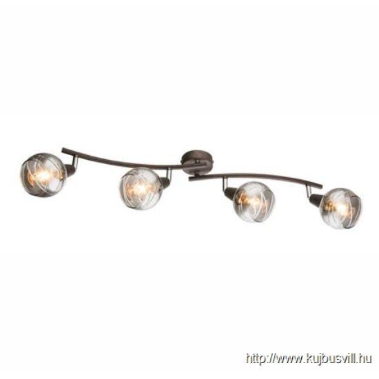 KIFUTÓ GLOBO- 54347-4 ISLA Spot bronz váz, füstszínű üveg, 4xE14 LED 4W 230V, 400lm, 3000K