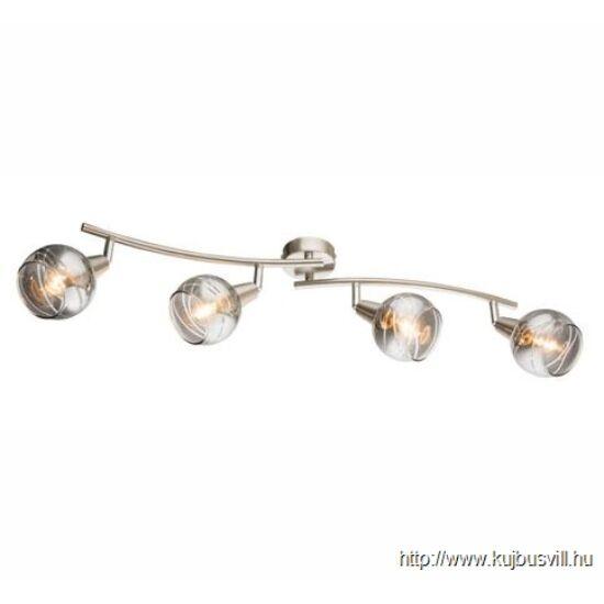 KIFUTÓ GLOBO 54348-4 ROMAN Spot ezüst, füstszínű üveg, 4xE14 LED 4W 230V, 400lm, 3000K