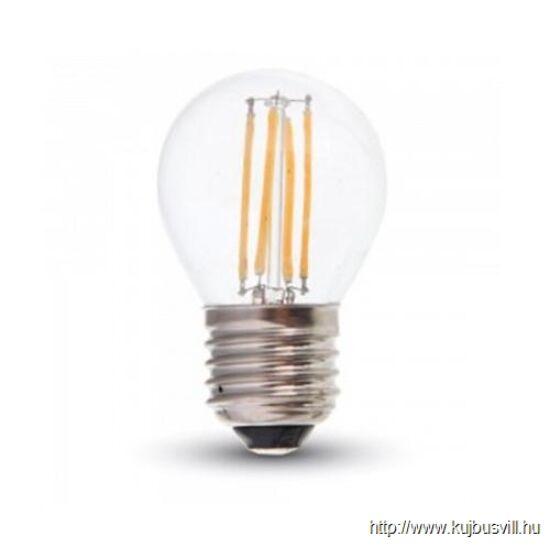 V-TAC LED 4W E27 izzószálas izzó 300° meleg fehér 4306