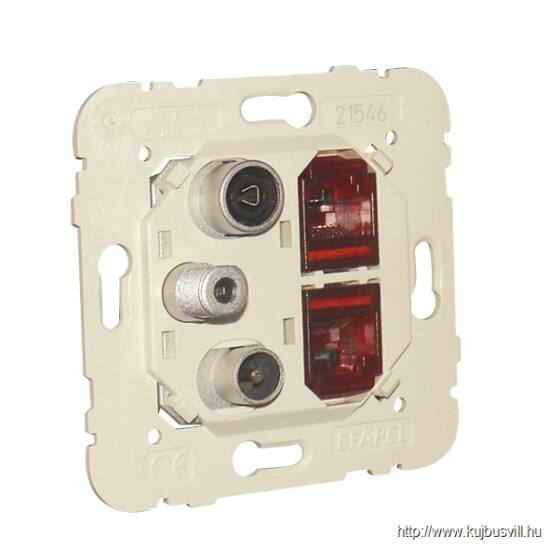 MEC 21546 - Multimédia csatlakozó R-TV-SAT-2XRJ45 CAT.6 UTP
