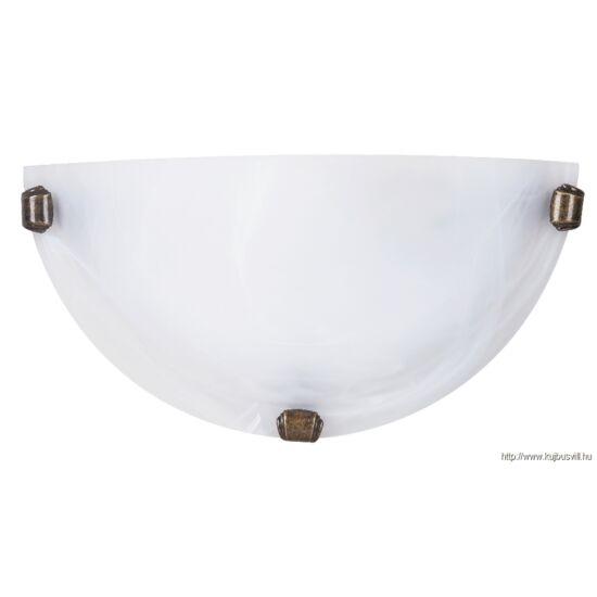 RÁBALUX 3003 Alabastro falikar E27 60W fehér /bronz/