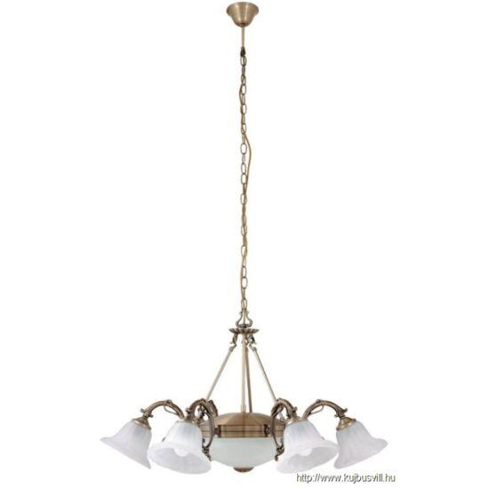 RÁBALUX 8556 Orchidea 6ágú csillár E14 6x40W bronz
