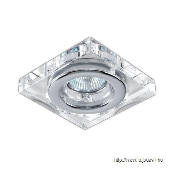 LUXERA 71040 DOWNLIGHT IP GU10/50W 8x8cm IP55 crystal / króm