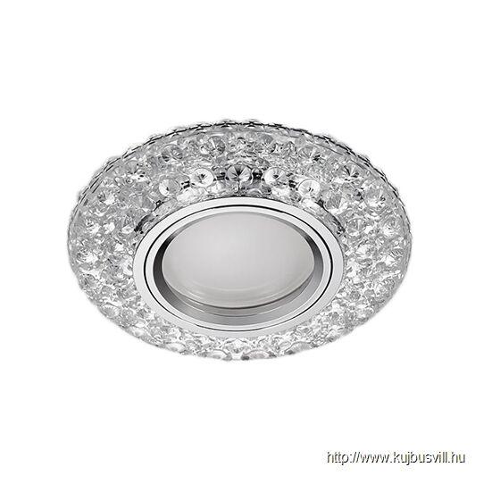 LUXERA 71095 DOWNLIGHT ELEGANT GU10/50W+3W LED króm/üveg