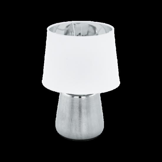 EGLO 99329 Asztali E14 40W ezüst/fehér Manalba1