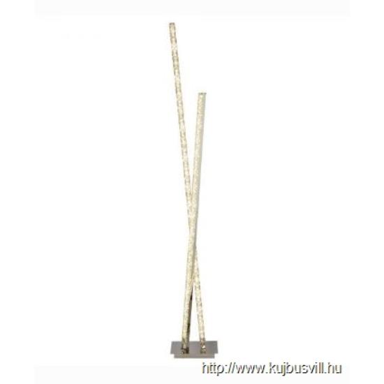 ALADDIN 2112CC Clover CLOVER 2LT LED COLUMN FLOOR LAMP CLEAR CRYSTAL TRIM CHROME
