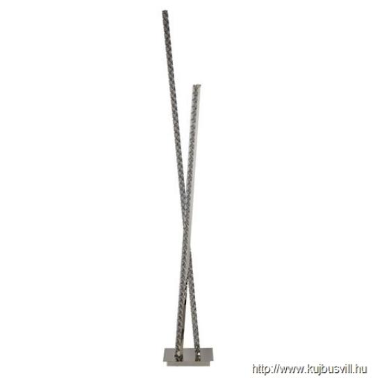 ALADDIN EU2112CC CLOVER 2LT LED COLUMN FLOOR LAMP, CLEAR CRYSTAL TRIM, CHROME
