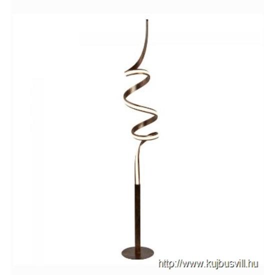 ALADDIN EU2813RU RIBBON (DIM) LED TWIST FLOOR LAMP, RUSTIC BLACK/GOLD