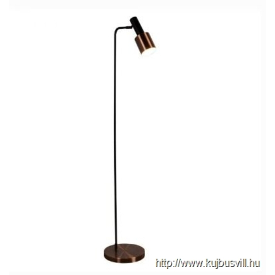 ALADDIN EU3053CU DENMARK 1LT FLOOR LAMP, BLACK, ANTIQUE COPPER