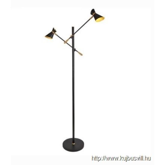 ALADDIN EU5962-2BG DIABLO 2LT LED FLOOR LAMP, MATT BLACK, CHROME & WHITE
