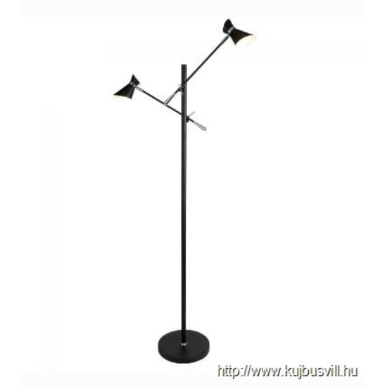 ALADDIN EU5962-2BW DIABLO 2LT LED FLOOR LAMP, MATT BLACK AND CHROME