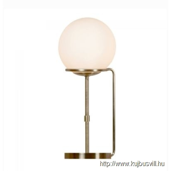 ALADDIN EU8092AB SPHERE 1LT TABLE LAMP, ANTIQUE BRASS, BLACK BRAIDED CABLE, OPAL WHITE GLASS SHADES
