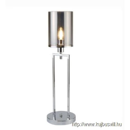 ALADDIN EU9052CC CATALINA 1LT TABLE LAMP, CHROME, SMOKED GLASS SHADES