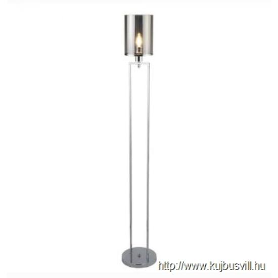 ALADDIN EU9053CC CATALINA 1LT FLOOR LAMP, CHROME, SMOKED GLASS SHADES
