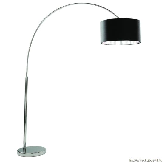 ALADDIN EU1013CC ARCS CC FLOOR LAMP BLK SHADE SILVER LINER