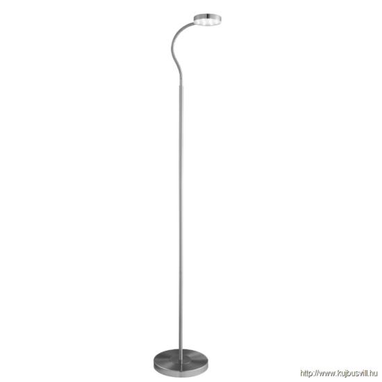 ALADDIN EU1061SS PALMER FLOOR LAMP ADJUSTABLE LED ROUND FLEXI-HEAD, SATIN SILVER