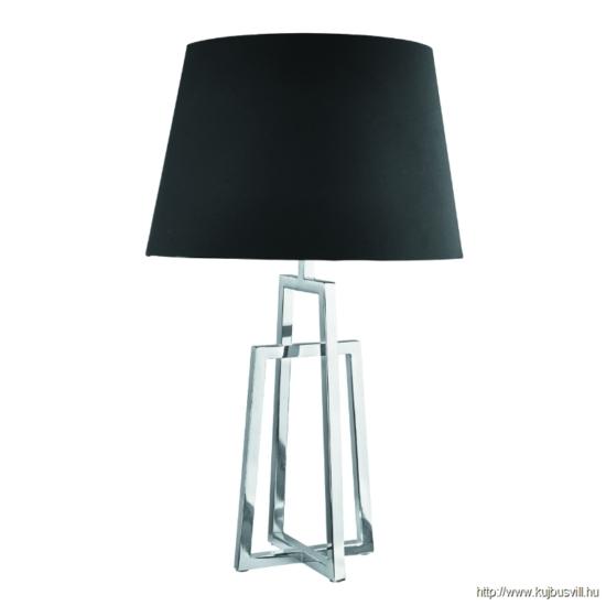 ALADDIN EU1533CC-1 YORK TABLE LAMP SINGLE -CC INTERLOCKING FRME BLK TAPERED SHADE