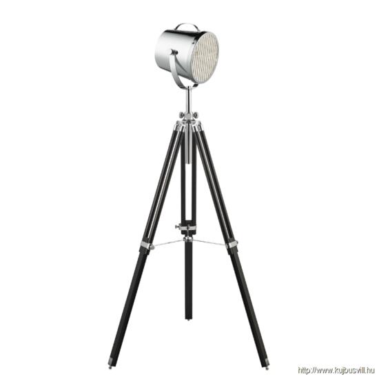 ALADDIN EU3013 STUDIO LAMP ADJUSTABLE  - FLOOR LAMP -  CHROME SHADE/BLACK BASE