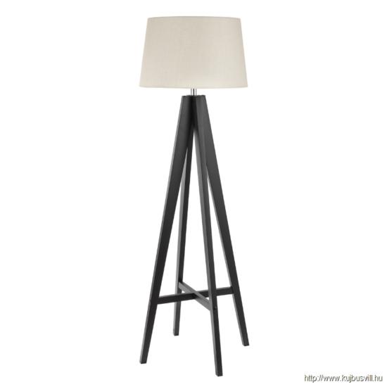 ALADDIN EU3540BR EASEL FLOOR LAMP DARK WOOD - CREAM LINEN SHADE