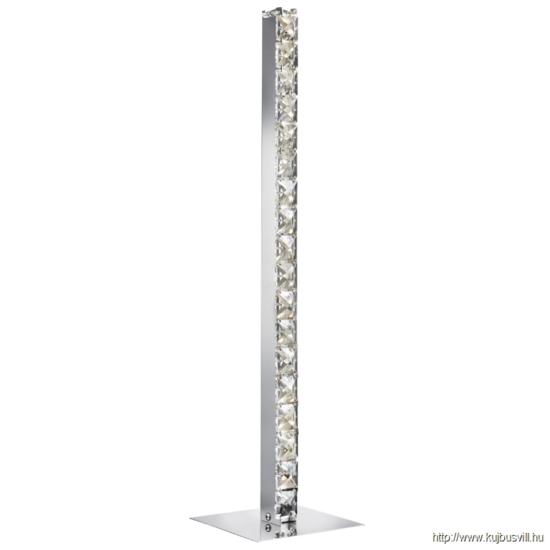 ALADDIN EU7023CC CLOVER - LED TABLE LAMP, CHROME, CLEAR CRYSTAL GLASS