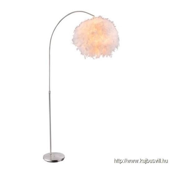 GLOBO-15057S KATUNGA Állólámpa nikkel matt szár, toll, állítható magasság, 1xE27 40W 230V
