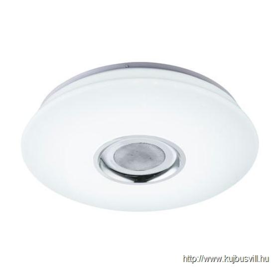 GLOBO 41329-18 NICOLE Mennyezeti lámpa plasztik fehér,  Bluetooth zene lejátszás,fényerő-szabályozható, távirányítós, színváltós, színbeáll