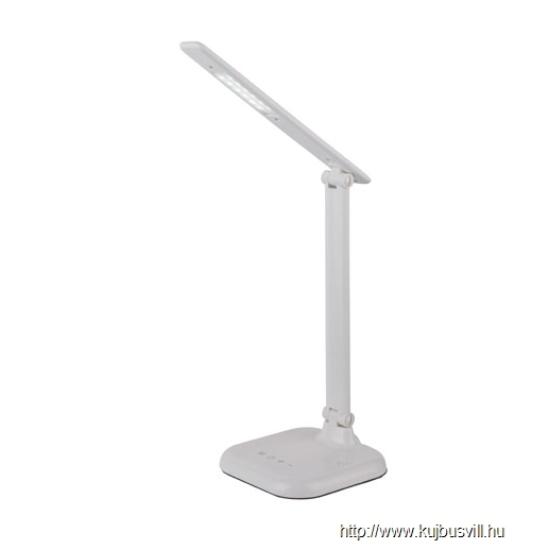 GLOBO- 58209W DAVOS Asztali lámpa plasztik fehér,érintőkapcsolós, H:575, Tartozéka: 1xLED 5W 5V, 250lm