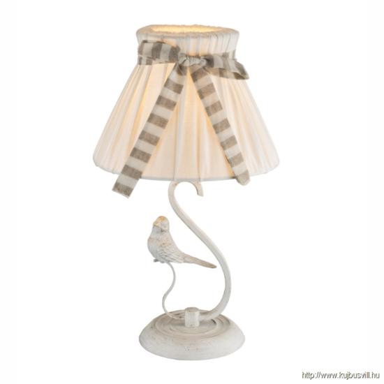GLOBO 69027T SAVIO Asztali lámpa textil ernyővel, 1xE14 40W 230V