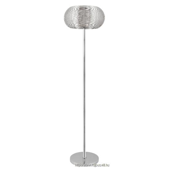 RÁBALUX 2906 Meda állólámpa,E27 2x60W, ezüst