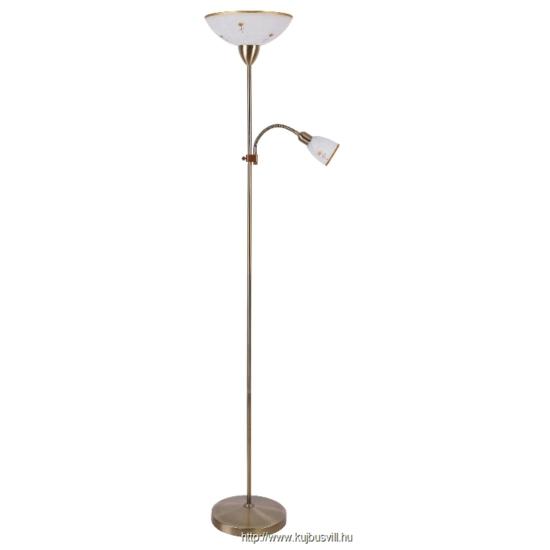 RÁBALUX 4009 Art flower állólámpaE27 60W+E14 40W bron