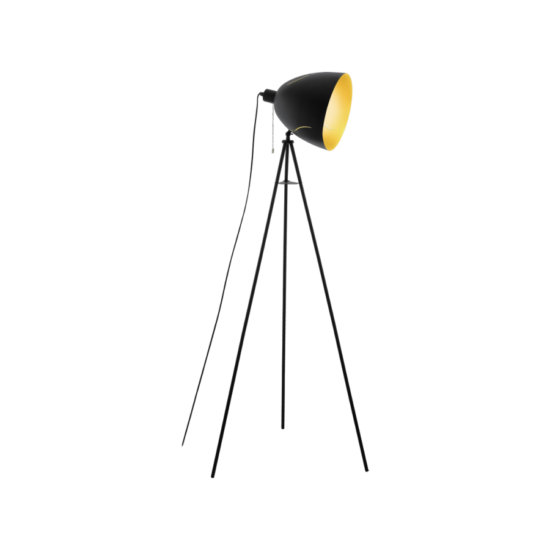 EGLO 43008 Álló E27 1x60W fekete/arany Hunningham
