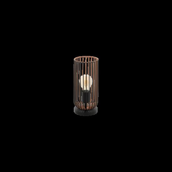 EGLO 49646 Asztali E27 1x60W fekete/réz Roccamena