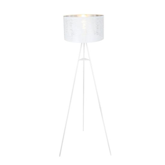 GLOBO- 15341S BARCA Állólámpa fém fehér-króm. H:1500, exkl. 1xE27 60W 230V