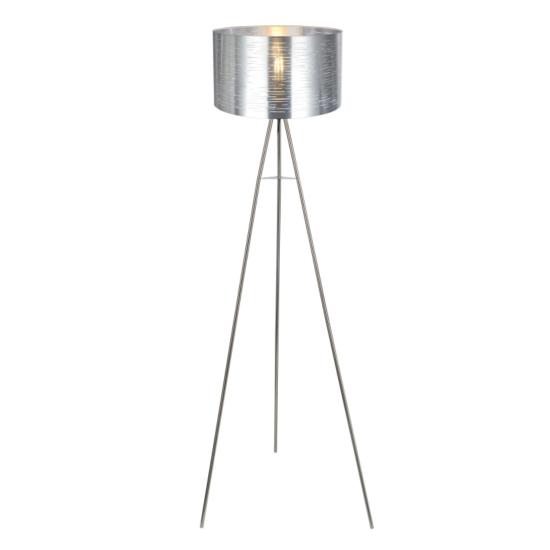 GLOBO- 15343S MURCIA Állólámpa fém nikkel matt-ezüst. H:1500, exkl. 1xE27 60W 230V
