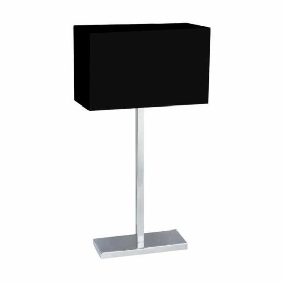LUXERA 25044 MADRID asztali lámpa E27/60W fekete/króm